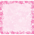 loral Pink Background vector image