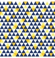 navy blue and yellow triangle texture vector image