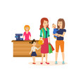 people at grocery store purchased merchandise and vector image