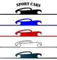 sport cars hand drawn logo vector image
