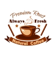 Always fresh natural coffee icon vector image
