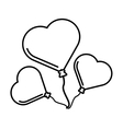 pictogram three balloons form heart design vector image