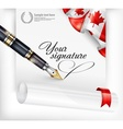 Canadian blank and pen vector image vector image