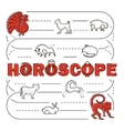 Chinese Zodiac banner vector image