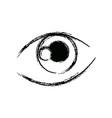 graffiti eye expression vision draw image vector image