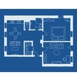 Architecture blueprint plan vector image