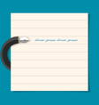 Stylized writing pen with paper sheet vector image vector image