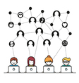 Social Media Network people vector image vector image