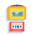 Colorful Cassette Tape Collection isolated on a vector image