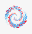 beautiful swirl triangles symbolizes the mixing of vector image