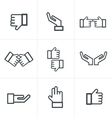 Hand gesture black icons vector image