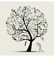 high fashion shoe tree vector image