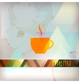 menu design with coffee sign vector image