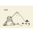 Pyramids Great Sphinx Giza Cairo Egypt vector image