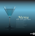 cocktail template vector image vector image