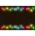 Colorful Christmas Lights Background vector image