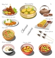 Chinese cousine set Collection of food dishes vector image