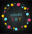 colorful geometric round hipster style frame vector image