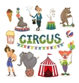 circus funfair and fairground icon set vector image