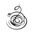 coffee cup design vector image