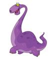 nice dinosaur vector image vector image