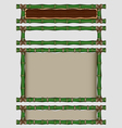 Bamboo banners set vector image