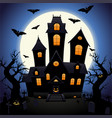 castle of horrors for halloween vector image