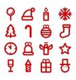 Christmas flat logos vector image