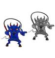 danger cartoon devil vector image