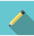 Graphite pencil long shadow vector image