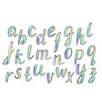 hand drawn comic rainbow font vector image