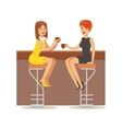 Happy Best Friends Catching Up In bar Part Of vector image