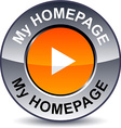 My homepage round button vector image