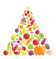 Pyramid of Vegetables and Fruits vector image