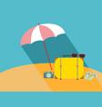 umbrella on the beach vector image