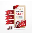 sale ribbon tag 2013 vector image vector image