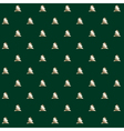 simple elegant Christmas tree seamless pattern vector image vector image