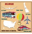 Flat map of Delaware vector image
