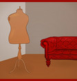 Clothing Mannequin vector image vector image