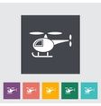 Helicopter flat icon vector image vector image