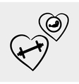 Healthy lifestyle design fitness concept white vector image