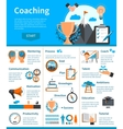 Mentoring Coaching Infographics vector image vector image
