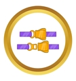 Aviation seat belt icon vector image
