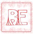 BE monogram vector image