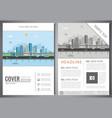 brochure design template with urban landscape vector image