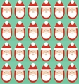 Christmas seamless pattern of Santa Claus vector image