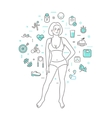 Concept of healthy lifestyle vector image