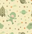Cosmonaut pattern vector image