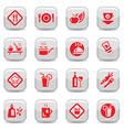 food type icon set vector image