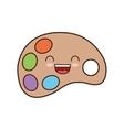 paint palette class school icon vector image